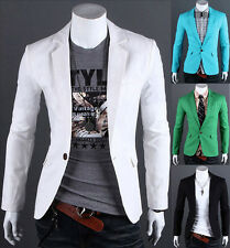 2015 Neu~Herren Sakko Blazer Jacke Mantel Formal Jacken One Button  XS S M L XL
