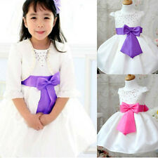 Toddler Baby Girl Flower Bridesmaid Prom Wedding Party Bow Bubble Dress 6-24M