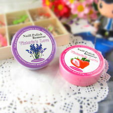 Women 32x Flavor Wipes Paper Towel Floral Fruity Nail Polish Vanish Remover Pads