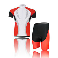 New Mens Outdoor Sportswear Cycling Bicycle Elastic Jersery + Short Pants Suit