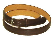 LA9900 EMBOSSED BROWN LEATHER DRESS BELT FOR MEN IN SIZES TO 3XL & FREE US SHIP
