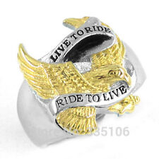Gold Plated Jewelry Motor Cycles Biker harley davidson mens rings