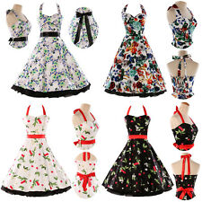US 1 HEPBURN STYLE NEW VINTAGE CHIC 50'S 1950S ROCKABILLY RETRO PINUP PROM DRESS