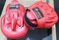 Boxter LEATHER FOCUS PADS HOOK & JAB MITTS MMA UFC STRIKE PUNCH BAG BOXING
