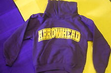 CAMP ARROWHEAD HOODIES (purple with gold lettering & gold with purple lettering)