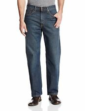New Men Authentic Levi's 550 Relaxed Fit Dark Stonewash Faded Blue Jeans XX2765