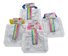 Kids Craft Party Idea Colour me in bag Fun Activity