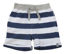 Boys Shorts Summer Nautical Stripe Age 6 7 8 9 10 11 12 13 Years Jersey New