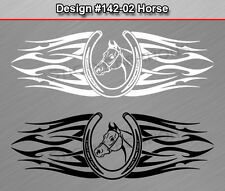 #142-02 HORSE Horseshoe Back Window Decal Sticker Vinyl Graphic Tribal Car Truck