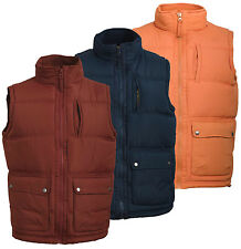 Mens Quilted Padded Body Warmer Gilet New Fully Lined Zip Neck Sleeveless Jacket