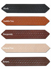"New Barsony 1 3/4"" (1.75"") Basketweave Leather Belts for Sizes 28"" - 38"""