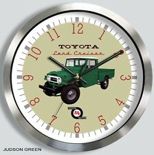 TOYOTA FJ 45 LAND CRUISER PICKUP METAL WALL CLOCK FJ45 choice of 7 colors
