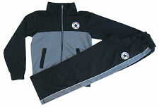 Converse Tracksuit Boys Chuck Taylor Black Tricot Shell Style Classic Fit 8-15Y