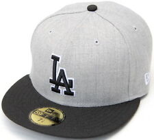 MLB Los Angeles Dodgers New Era Heather/Black LA 59Fifty Fitted Cap Hat