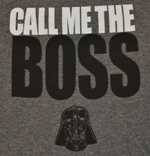 Star Wars Darth Vader CALL ME THE BOSS Adult T-Shirt Tee Officially Licensed