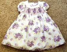 NEW JANIE AND JACK Sweet Pansies Floral Smocked Easter Dress 0 3 6 12 18 m NWT