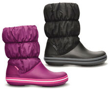New CROCS Womens Ladies Winter Puff Boots Shoes Black Viola Brown Sizes 4-5-6-7