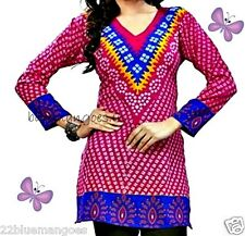 New women ethnic tunic top blouse in small, 2xl, 3xl and 4xl in crepe casualwear