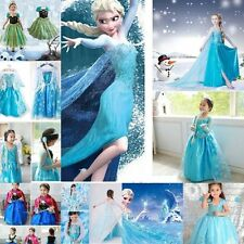Kids Gilrs' Dresses Disney FROZEN Princess Dress Xmas Party Cosplay Costume New