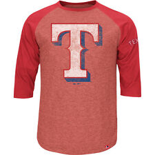 Majestic Athletic Youth Texas Rangers Power Hit Raglan 3/4-Sleeve T-Shirt