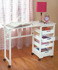 Fold Away Desk Vanity Craft Table Sewing Make-Up Projects Home Storage Solution