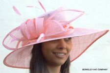 "NEW ""Lucky Kentucky"" Derby Dress Hat Sinamay Straw Wide Brim Multiple Colors"