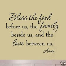 Bless the Food Before Us #2 Dining Room Wall Decal Family Wall Art Quote Kitchen