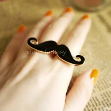 New Fashion Girl's Sexy Avanti Moustache Creative Beard Two Fingers Chic Ring