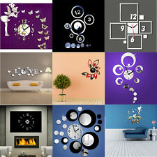 New DIY Home Acyrlic Mirror Surface Living Room Office Wall Clock Sticker