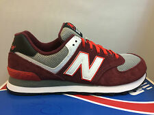 MENS NEW BALANCE ML574CRB CLASSIC BURGUNDY RED SUEDE SNEAKERS ATHLETIC RUNNING