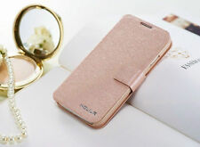 LUXURY SLIM WALLET Silk Leather Stand Flip case cover for Samsung Galaxy Phone