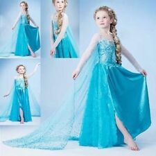Hot! Frozen Dress Elsa Anna PRINCESS DRESS KIDS COSTUME PARTY FANCY SNOW QUEEN
