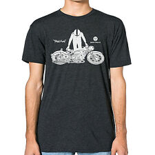 BMW R60/2 Cafe Racer Motorcycle printed on Men's American Apparel T-shirt