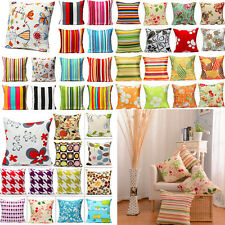 Retro Simple Style Square Home Bedroom Decor Seat Back Pillow Case Cushion Cover