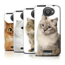 Hard Back Case Bumper Cover for HTC One X / Printed Cat Breeds Design