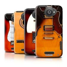 Hard Back Case Bumper Cover for HTC One X / Printed Guitar Design
