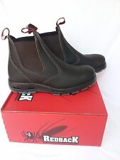 Redback Work Boots USBOK Steel Cap Toe Elastic Sided Brown Made in Australia