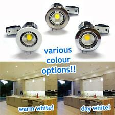 240V GU10 FIRE RATED RECESSED DOWNLIGHTER FITTINGS POLISHED CHROME BRUSHED WHITE