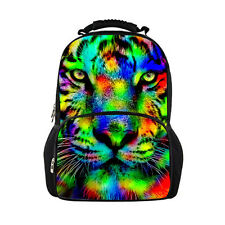 Women Men 3D Animal Zoo Print Daypack Backpack Rucksack Tiger Sports SchoolBag