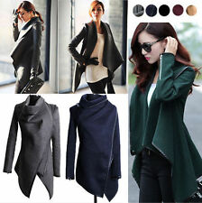 Womens Lady Slim Winter Warm Trench Coat Long Wool Jacket Outwear Parka Overcoat