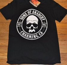 Sons of Anarchy SAMCRO Charming CA SOA Tee T-Shirt Licensed SOA Reaper Crew