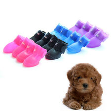Dog Candy Color Boots Waterproof Water Protective Rubber Pet Rain Shoes Booties