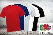 New Mens Plain Fruit Of The Loom Valueweight T Shirt In All Sizes & Colours