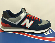 MENS NEW BALANCE ML574CPM CLASSIC NAVY RED SUEDE Q115 CORE PLUS ATHLETIC SHOES