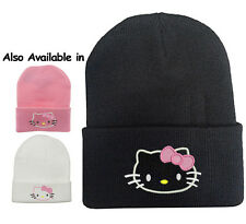 CUTE HELLO KITTY GIRLS BEANIE HATS **YOU CHOOSE THE COLOR**