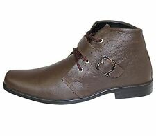 MENS MILD LEATHER SMART ANKLE BOOTS CHELSEA WORK OFFICE FORMAL WEDDING SHOES