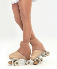SEMI OVER THE BOOT ICE ROLLER SKATING TIGHTS+TRIM IN **5MM** SWAROVSKI ELEMENTS