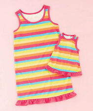 Girl 7-12 and Doll Matching Rainbow Nightgown Outfit American Girls Dollie Me