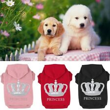 Small Pet Dog Cat Princess Printed Coat Puppy Clothes Hoodie Sweater Tops 7 Size