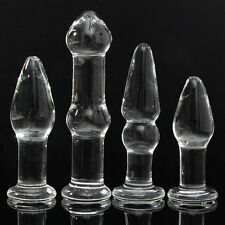 Crystal Glass Dildo Ass Anal Dual Butt Plug Vagina Stopper Sex Toy Unisex